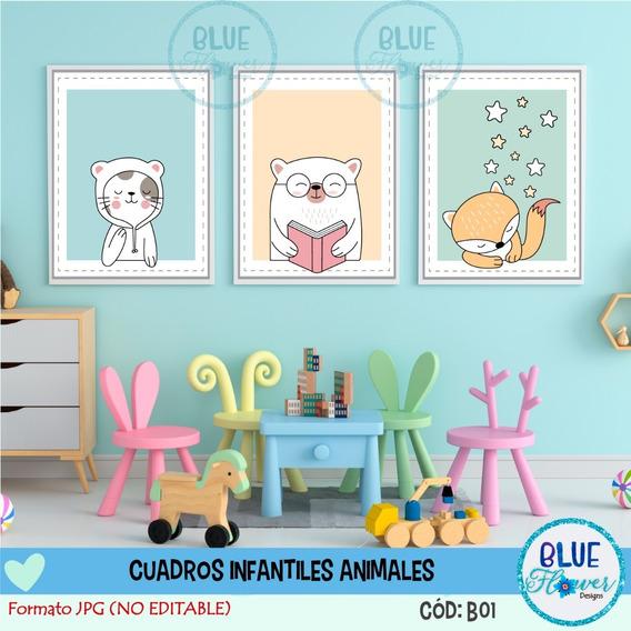 Laminas Para Cuadros Infantiles Varon Imprimible Jpg - B01