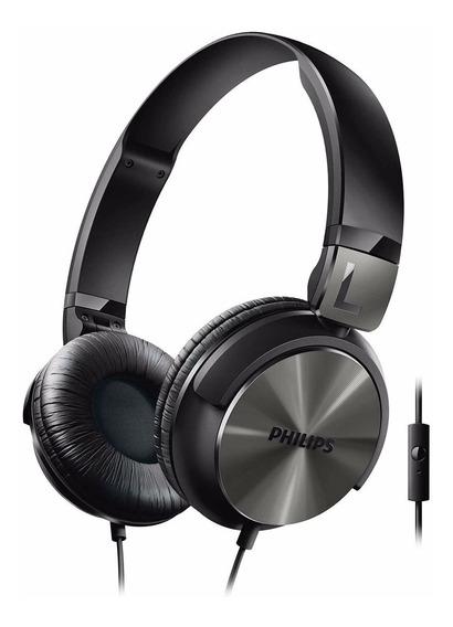 Fone De Ouvido Com Microfone Philips Shl3165bk Preto Alça