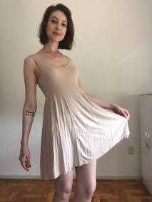 Vestido Nude Em Malha Acinturado - Tok