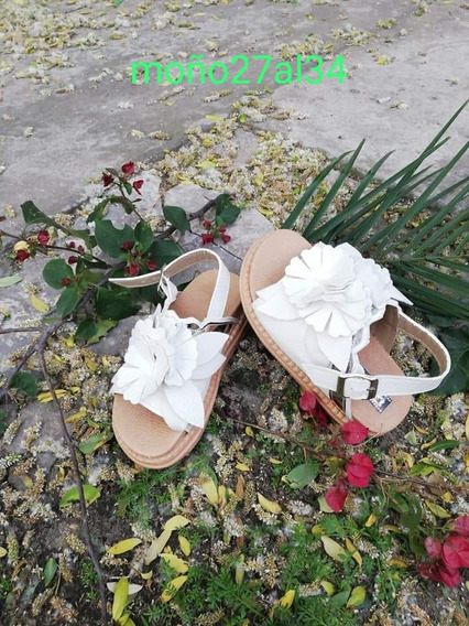 Sandalias Nenas Con Flores De Vestir Livianas 27-34