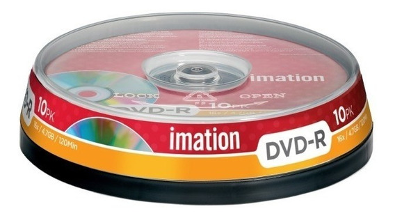 Tubo De 10 Dvd-r Imation