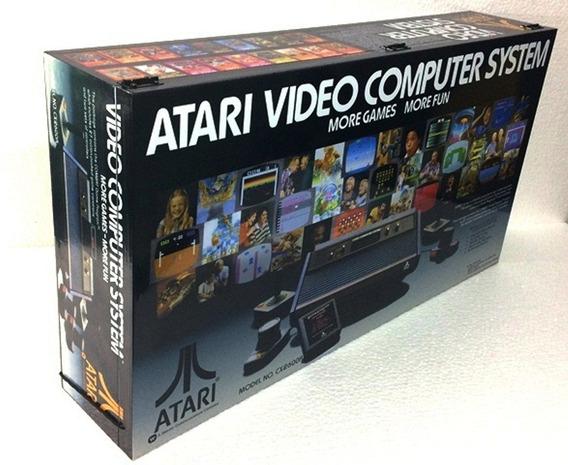 Caixa Vazia Atari 4 Chaves De Madeira Mdf