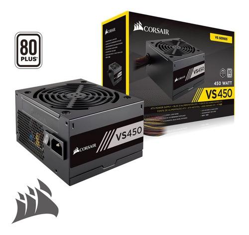 Bc.ec Fuente De Poder Corsair Vs450 80 Plus, 450w  Iva Inc