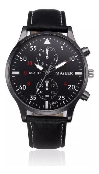 Relógio Masculino Quartzo - Preto