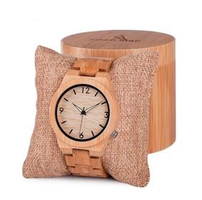 Relógio Pulso Madeira Bambu Bobo Bird Original + Estojo