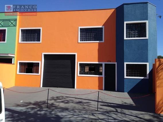 Barracão Para Alugar, 280 M² Por R$ 3.600/mês - Jardim Santa Marina - Valinhos/sp - Ba0076
