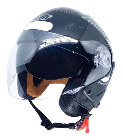 Capacete Moto Aberto C/oculos Solar Ebf Varias Cores/tamanho
