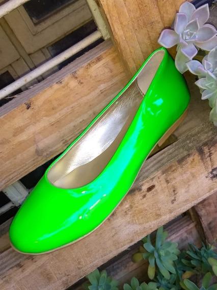 Ballerinas Color Verde Limon Fluor