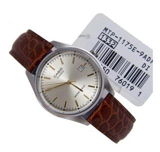 Reloj Casio Mtp 1175e 9a / Correa Cuero Genuino