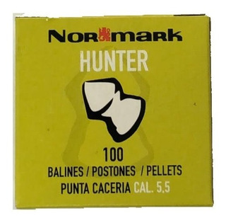 Postones Hunter De Normark Calibre 5.5 100 Uni. Balines