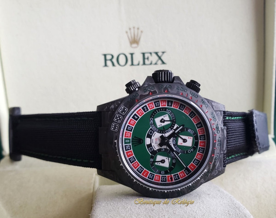 Relógio Eta - Modelo Daytona Diw Lucky Player Cassino Carbon