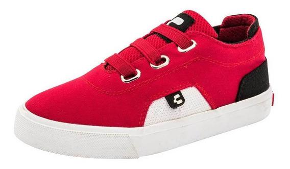 Tenis Charly 1069381 Niño Talla 15 Al 17 Color Rojo Cov19