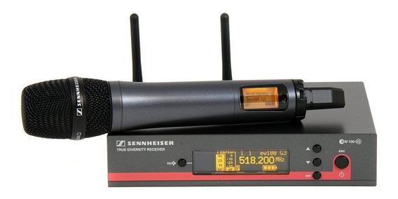 Microfone com acessórios Sennheiser EW 135-G3 dinâmico cardióide preto