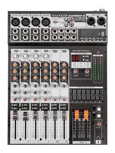 Mesa De Som 8 Canais Usb C/efeito Soundcraft Sx802fx