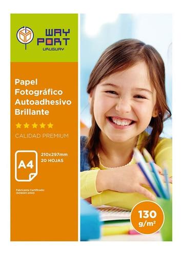 3 Paquetes De Papel Fotográfico Autoadhesivo A4. 130 Gramos