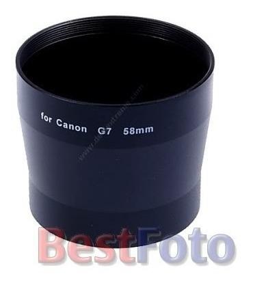 Tubo Adaptador De Filtros E Lentes 58mm P/ Canon G7 G9