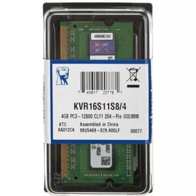 Memoria Ddr3 4gb 1600mhz Notebook Macbook Pc3-12800 Kingston