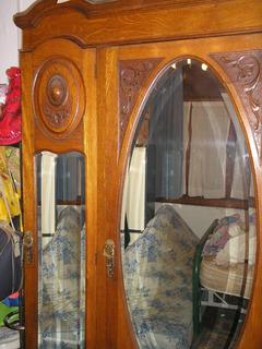 Antiguo Ropero Espejado Viscelado- De Cedro - Impecable