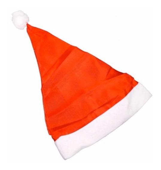 Touca Gorro Cetim Papai Noel Natal Kit 12 Peças