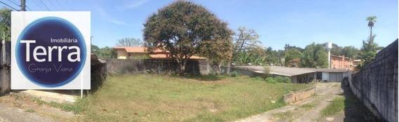 Terreno Com Galpão Para Alugar, 1200 M² Por R$ 5.000/mês - Miolo Da Granja - Granja Viana - Te0657