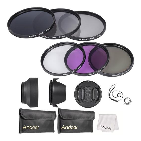 Andoer 67 Milmetros Lens Kit Filtro Uv + Cpl + Fld + Nd