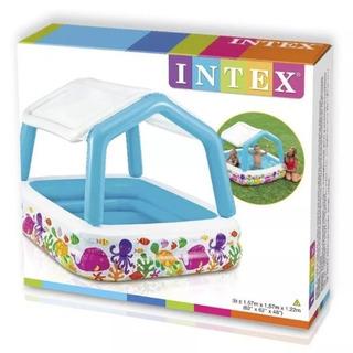 Intex Piscina Inflable Con Toldo 157x157x122 Mod 57470
