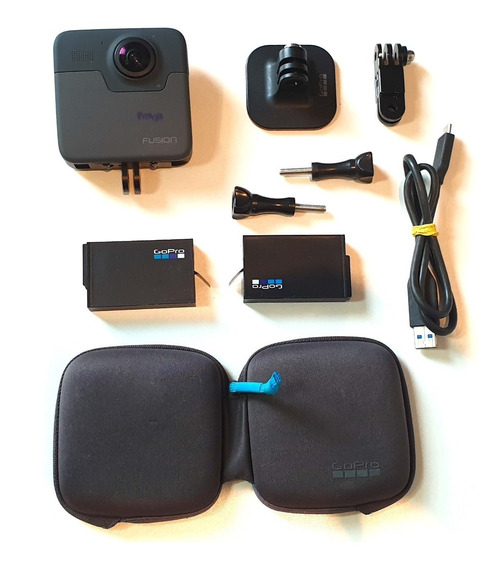 Go Pro Fusion + 2 Baterias + Case + Acessórios