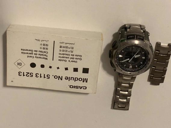Relógio Casio Protrek Titanium Prg 510t 5113 5213 Usado!
