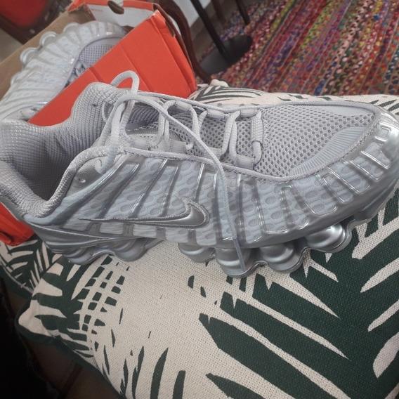 Tênis Nike Shox Tl (12 Molas)prata/branco N°41