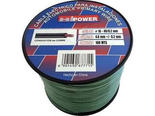 Cable De Instalación Nº10 Verde Rollo 100 Metros
