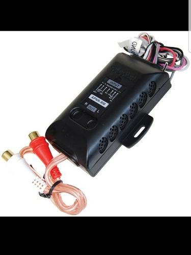 Adaptador Convertidor Alta- Baja Audiopipe Con Remoto 2 Rca