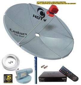 Kit Antena Chapa Century + Receptor Mídia Box B3