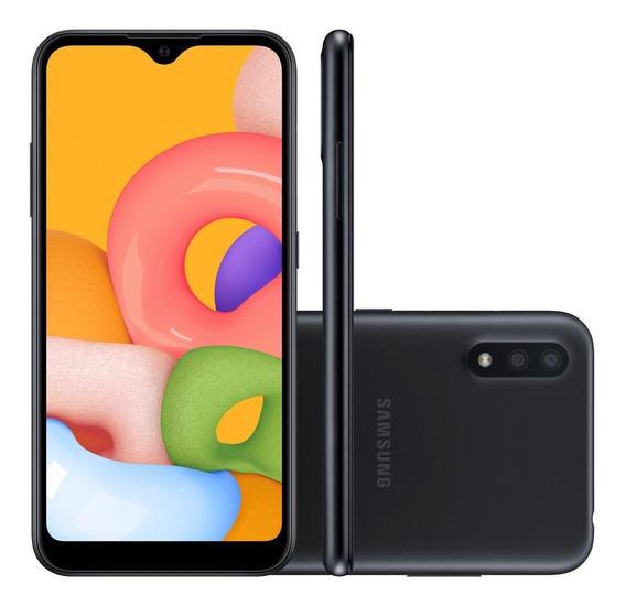 Smartphone Samsung Galaxy A01, 32gb, Preto - A015mzkezto