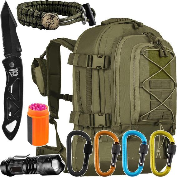 Kit Camping Mochila Tática Duster 50l Invictus + Acessórios