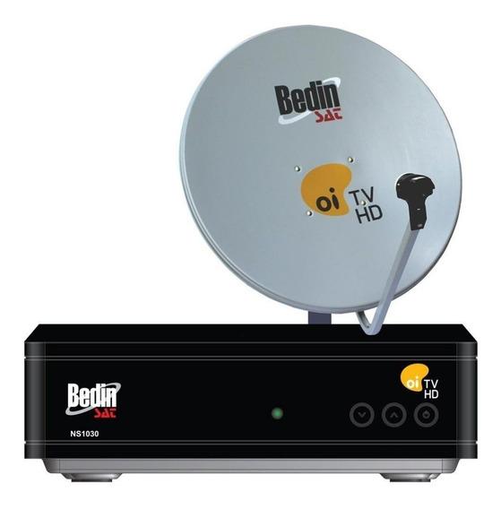 Kit Oi Tv Livre Hd Com Receptor Antena Cabo E Lnbf Bedinsat