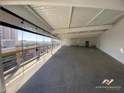 Salão Para Alugar, 250 M² Por R$ 5.400/mês - Vila Alzira - Santo André/sp - Sl0127