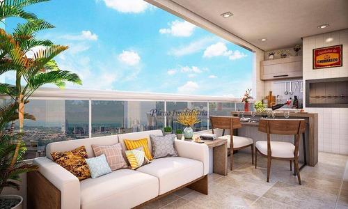 Imagem 1 de 30 de Apartamento Com 3 Dormitórios Sendo 3 Suítes, À Venda, 117 M² Por R$ 999.325 - Vila Guilhermina - Praia Grande/sp - Ap0864
