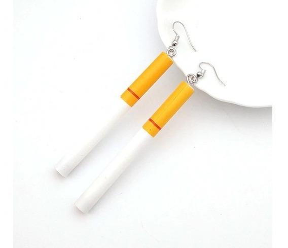 Aretes Cigarro 2 Estilos Moda Asiatica Kawaii Original
