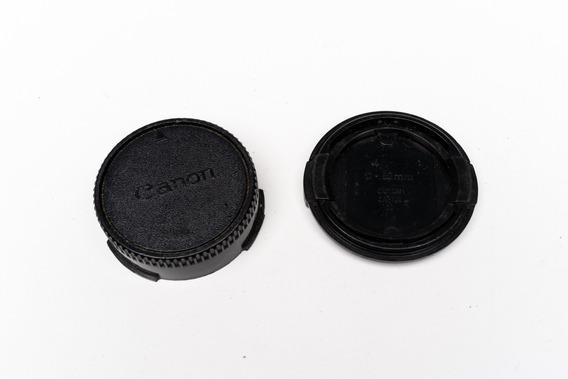 Kit Tampas De Corpo De Camera E Traseira De Lente Canon Fd