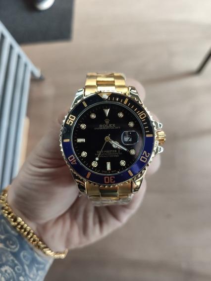 Relógio Submariner Dourado Pronta Entrega Fotos Reais
