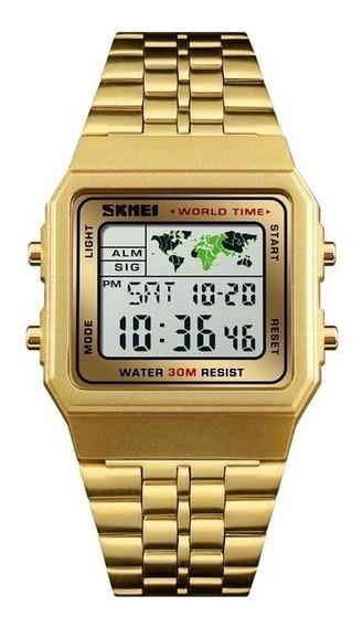 Relógio Skimei Digital Word Time Promoção
