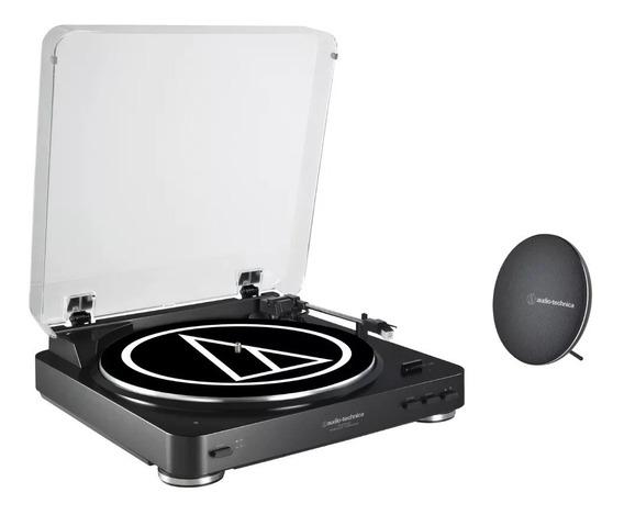 Toca-discos Audio Technica Lp60 Usb C/caixa De Som Bluetooth
