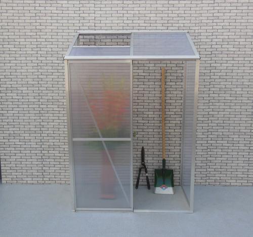 Invernadero Aluminio-policarbonato De Pared 1.26x0.65x1.90