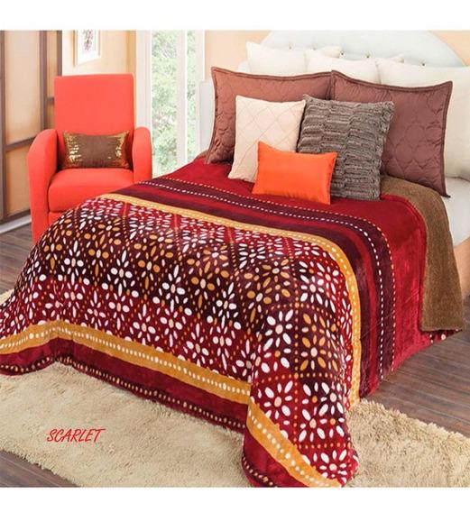 Pack Dos Cobertor Borrega Matrimonial Real Textil Esquimal