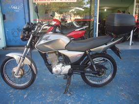 Honda Cg 150 Titan Ks Cinza Ano 2008 R$ 4.999 Com Bau Troca