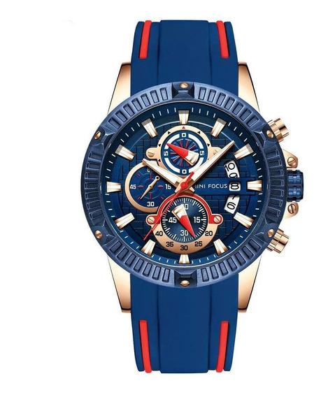 Relógio Mini Focus Azul Original
