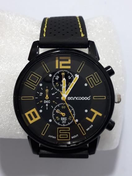 Relógio Banwood Caixa Metal 45mm Pulseira Silicone