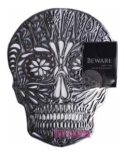 Manteles Individuales Para Mesa Skull Beware