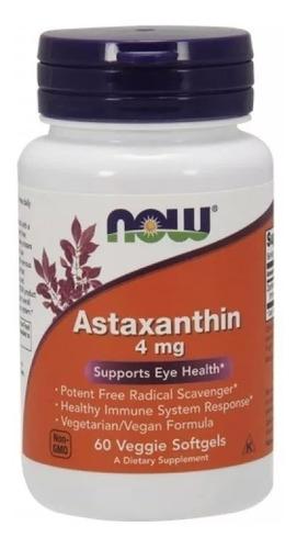Astaxantina (astaxanthin) 4mg - 60 Softgels - Importada Eua