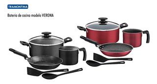 Bateria Para Cocina Tramontina Verona Sartenes 6 Pcs Rojo